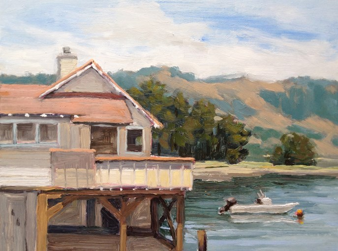 """Warm Afternoon near Stinson Beach"" original fine art by Deborah Newman"