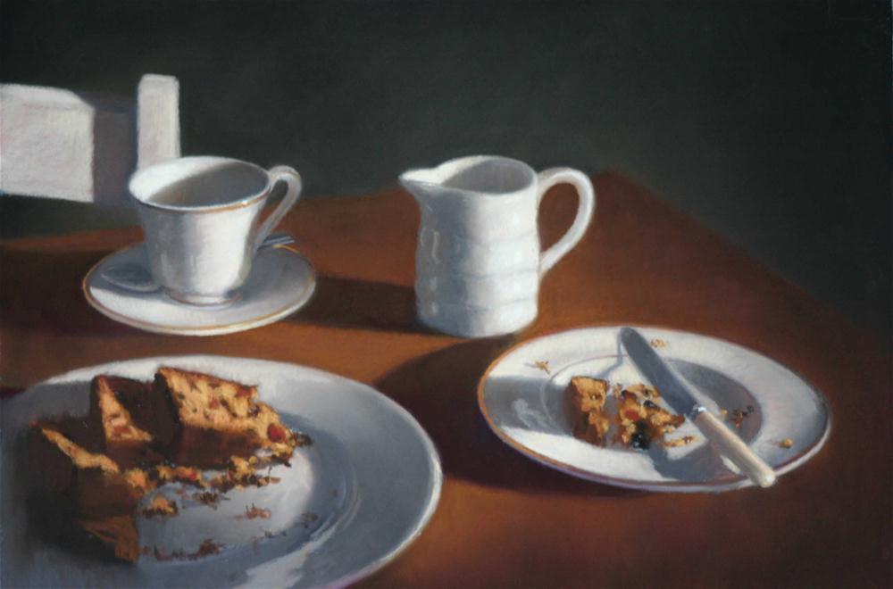 """Mimi's fruit cake"" original fine art by Liz Balkwill"