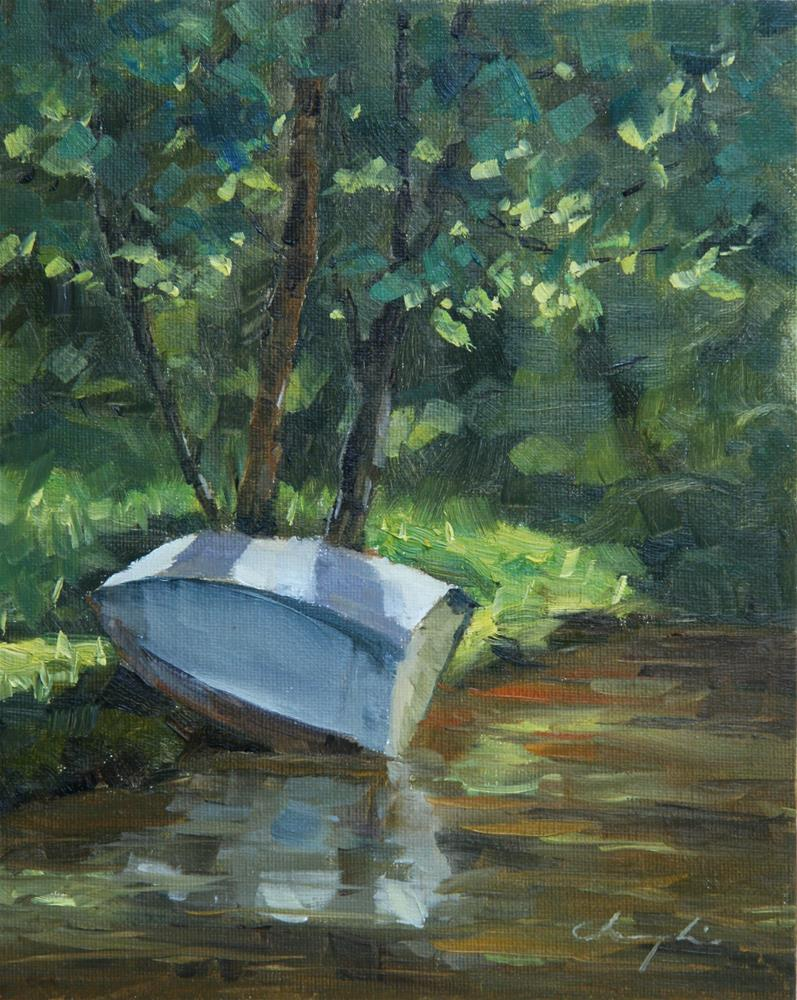 """Small Boat"" original fine art by Chuang Liu"