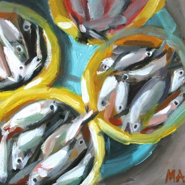 """Wednesday Market"" original fine art by Aniko Makay"