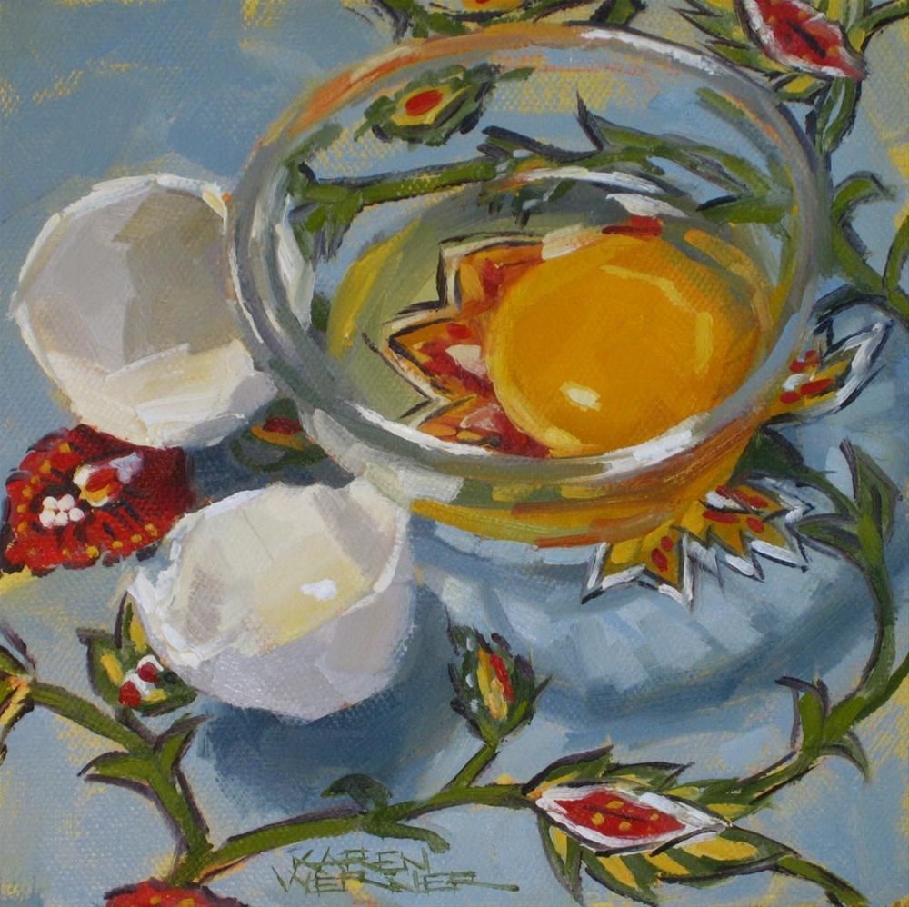"""The Lovely Egg"" original fine art by Karen Werner"