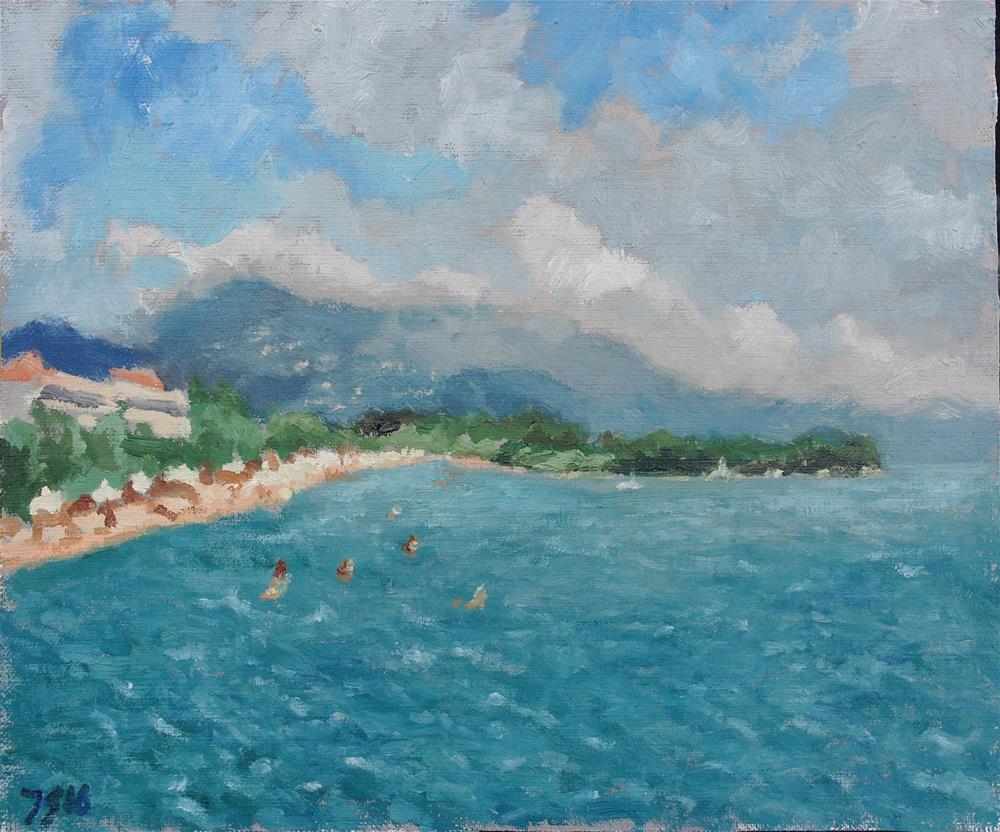 """Dassia, Corfu"" original fine art by Juri Semjonov"