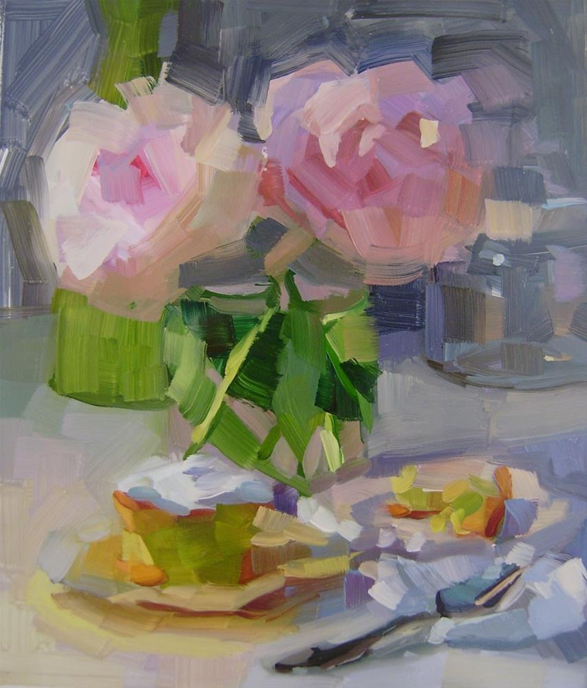 """Peonies"" original fine art by Holly Storlie"