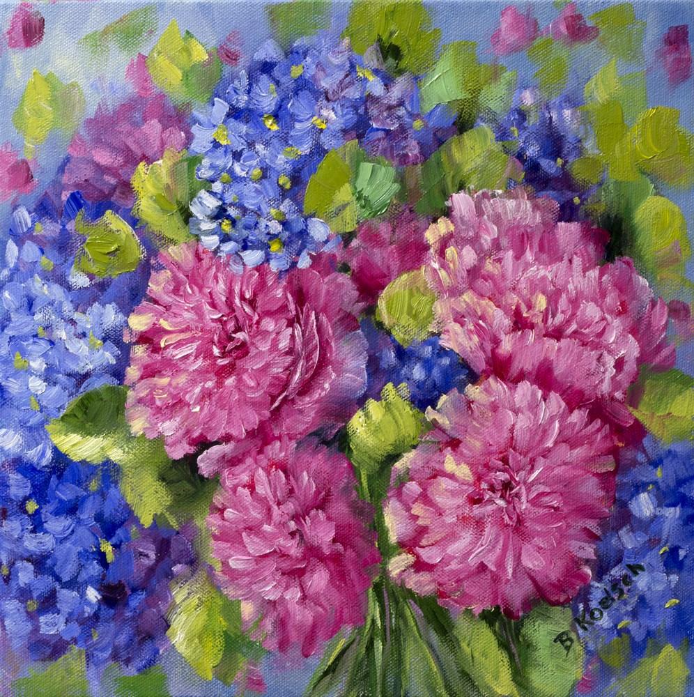 """Precious Peonies"" original fine art by Bobbie Koelsch"