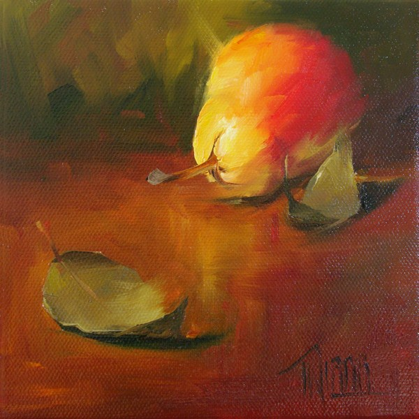 """Pear 2"" original fine art by Lori Twiggs"