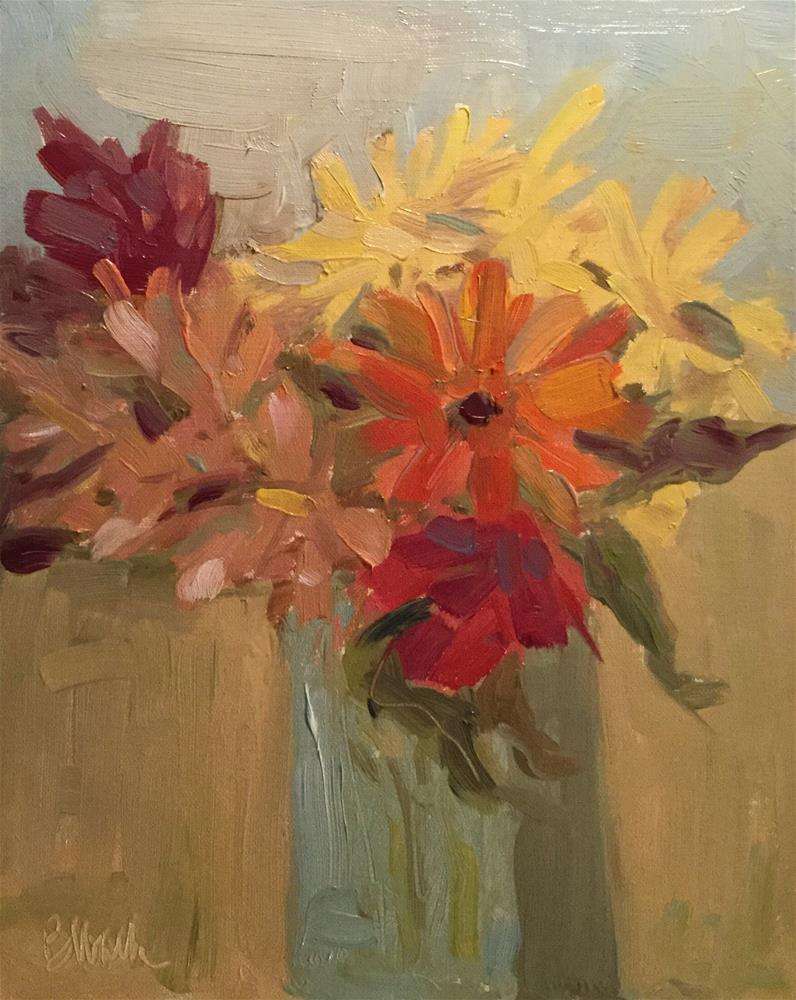 """Flowers in a Vase"" original fine art by Barb Walker"