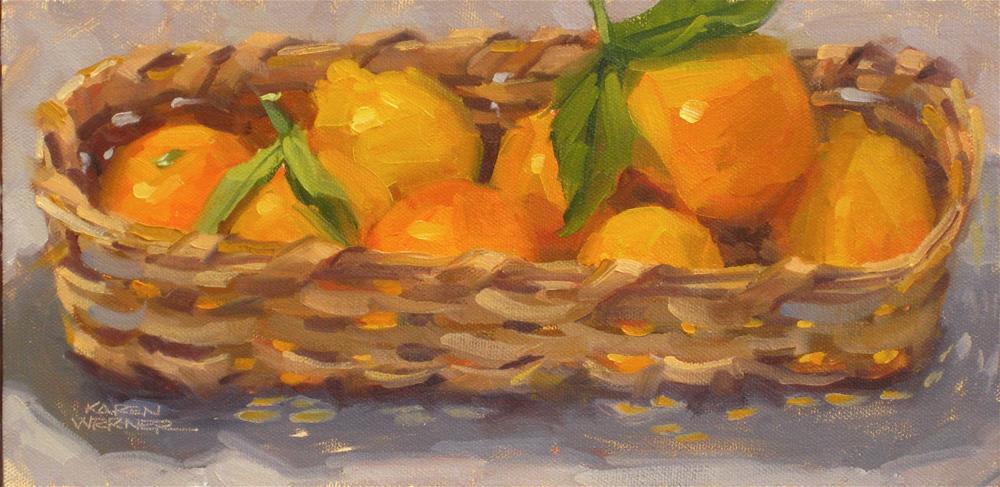 """""""Citrus Basket"""" original fine art by Karen Werner"""