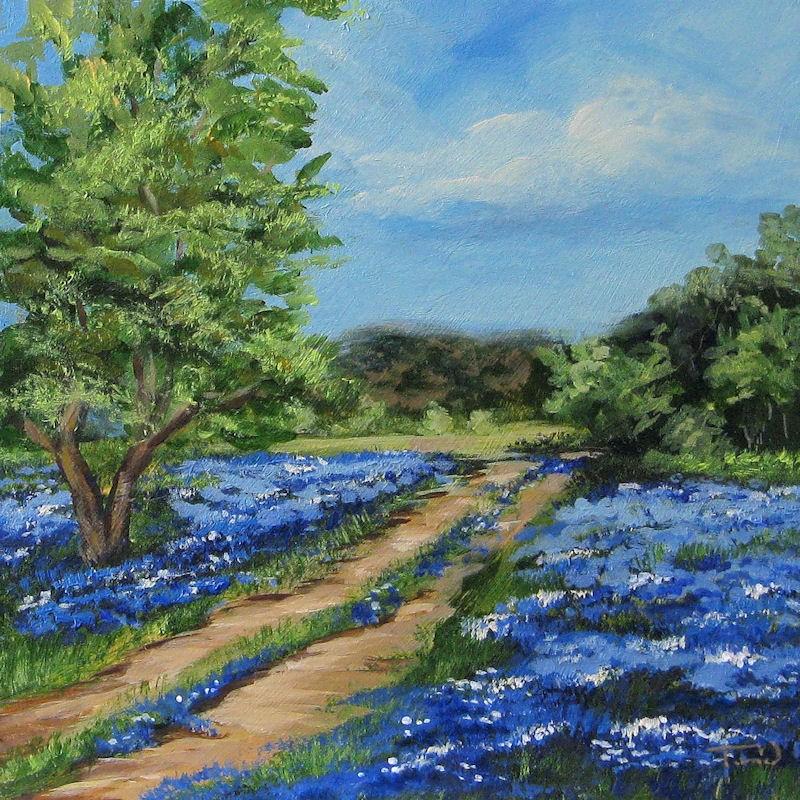 """""""Bluebonnet Road"""" original fine art by Torrie Smiley"""