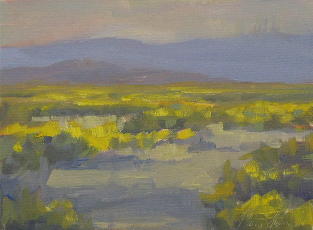 """Evening's Approach"" original fine art by Melanie Thompson"