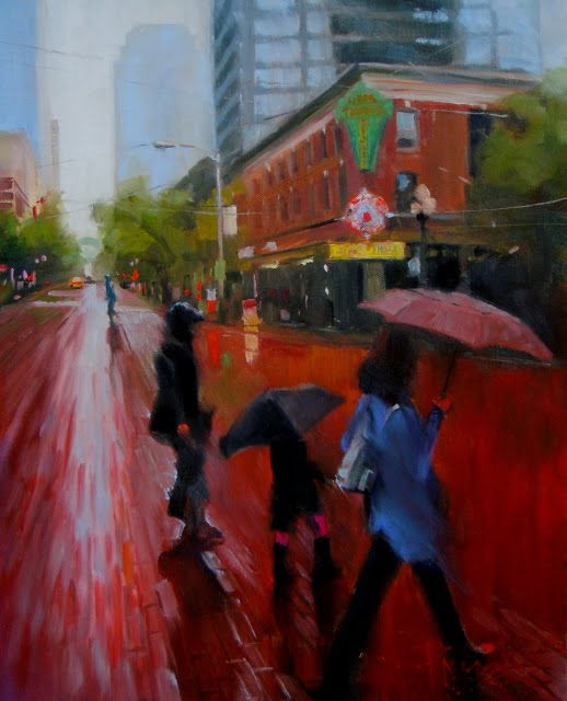 """Take me to Pike Place Seattle City oil painting"" original fine art by Robin Weiss"