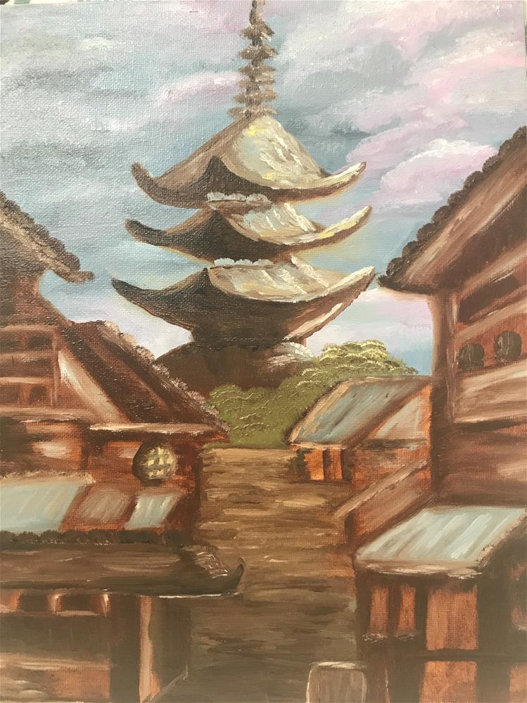 """Pagoda Tower"" original fine art by Tamara Duffy"