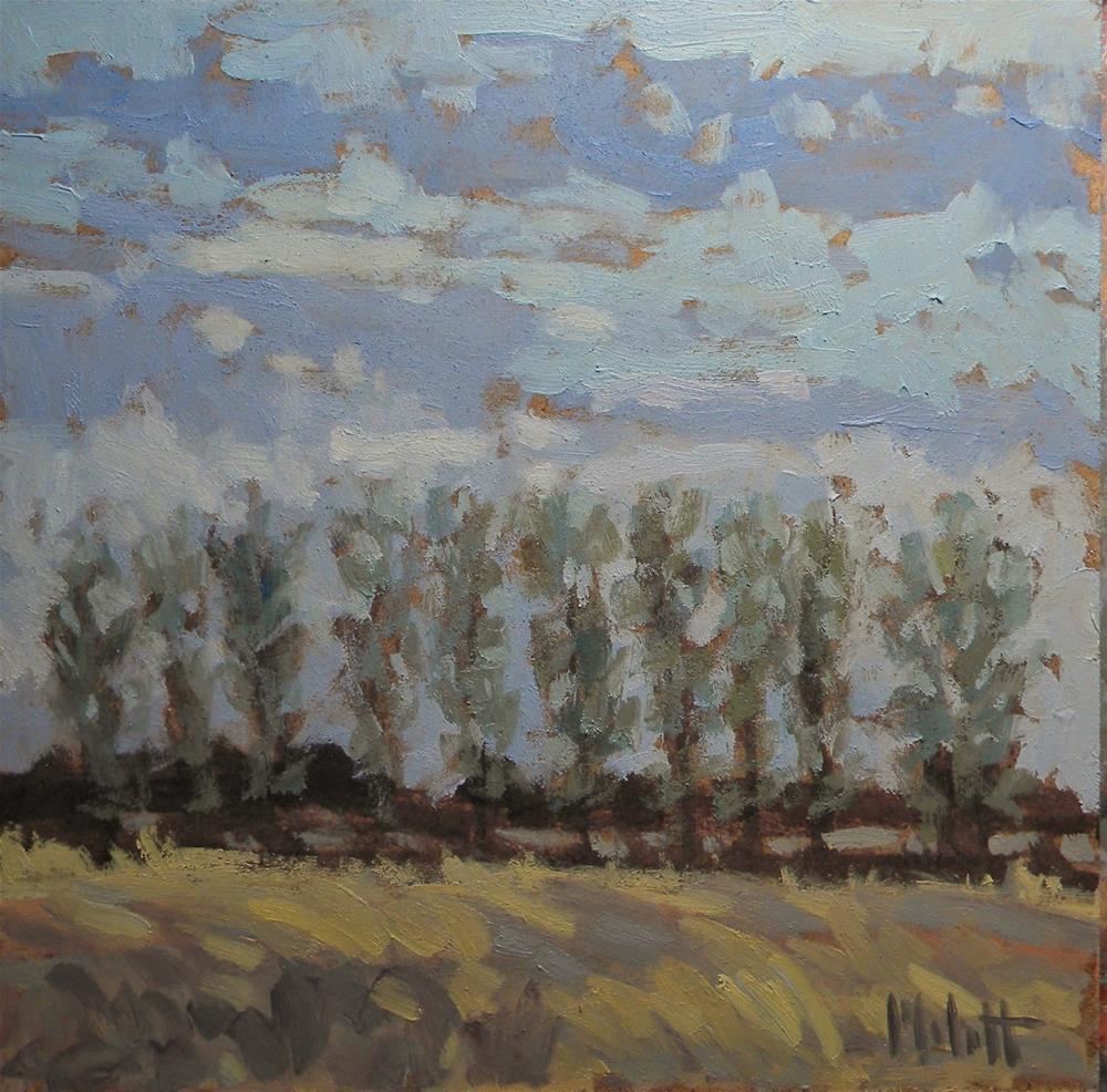 """""""Poplar Ridge Impressionist Landscape"""" original fine art by Heidi Malott"""