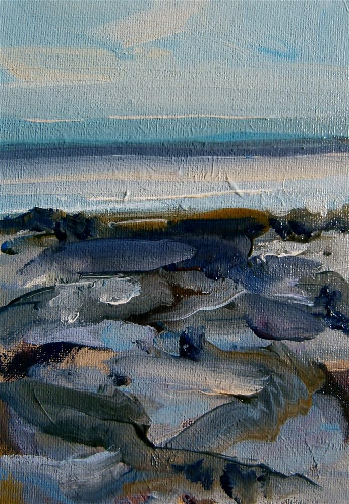 """Mud Flats, Low Tide"" original fine art by Anne Wood"