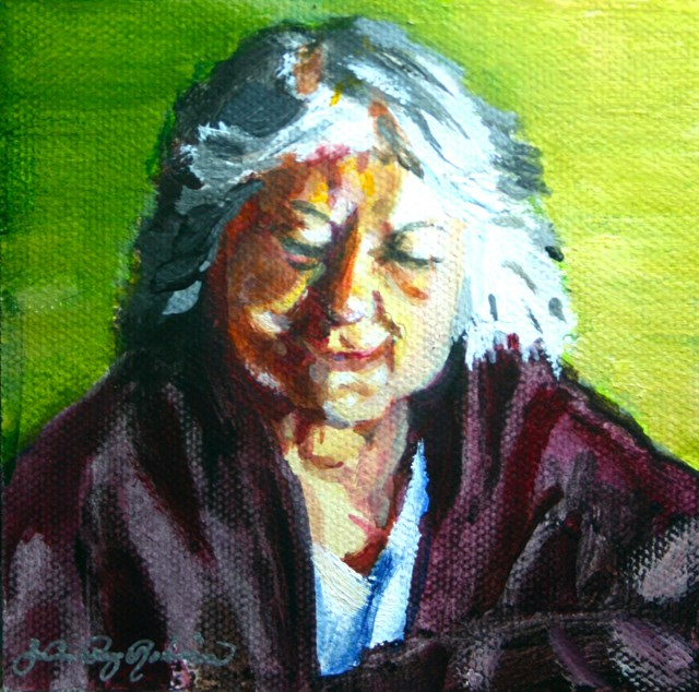"""My mom, Marianna, 91"" original fine art by JoAnne Perez Robinson"
