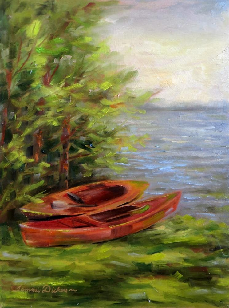 """Red Kayaks"" original fine art by Tammie Dickerson"