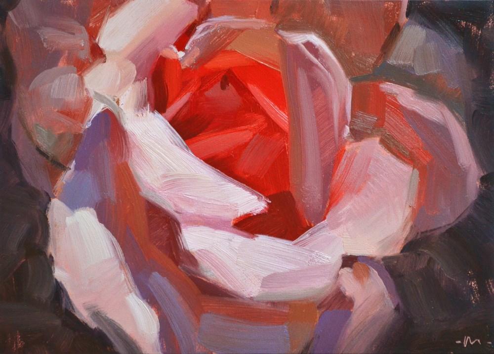 """""""Hot For You Rose"""" original fine art by Carol Marine"""