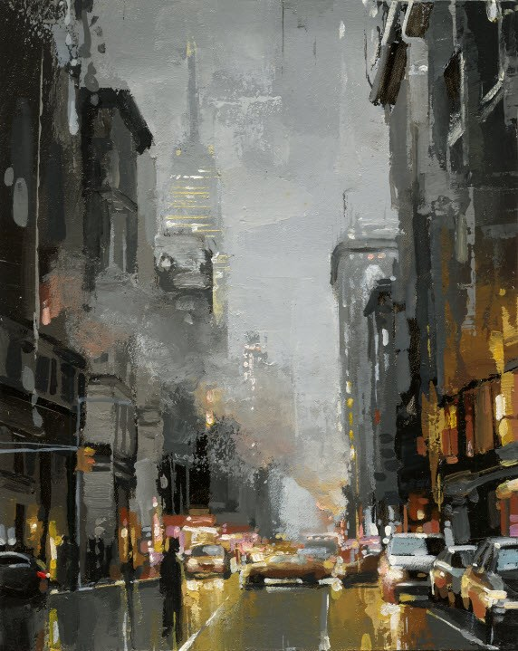 """Soho Broadway"" original fine art by Victor Bauer"