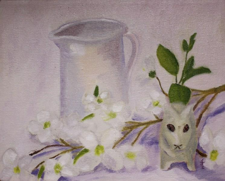 """White on White Challenge"" original fine art by Jane Frederick"