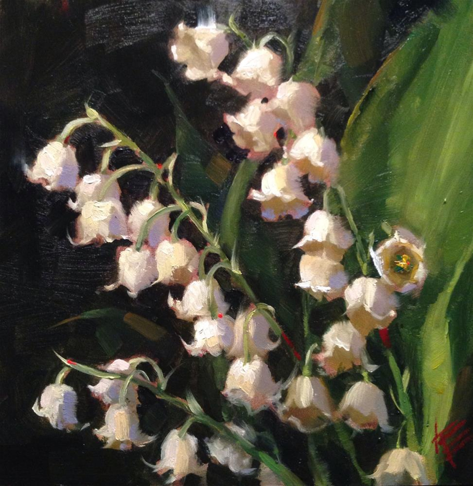 """Muguet"" original fine art by Krista Eaton"
