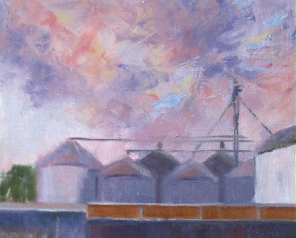 """Sunset at the Mill"" original fine art by Katharine March"