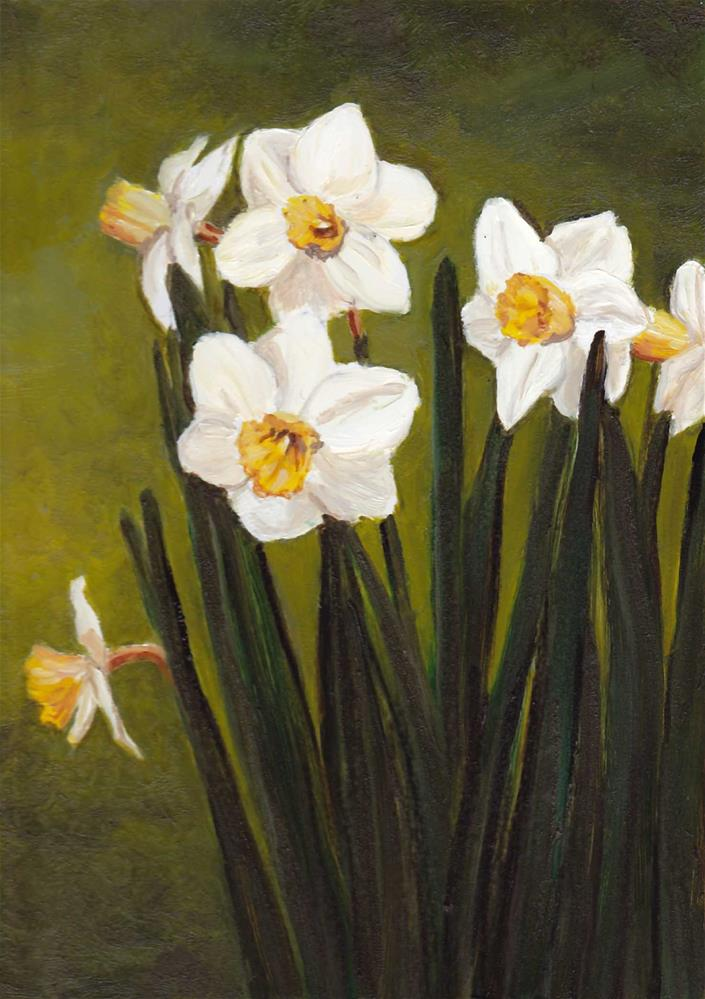 """Narcissus"" original fine art by Charlotte Yealey"