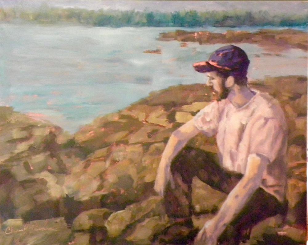 """Pondering"" original fine art by cheryl buhrman"