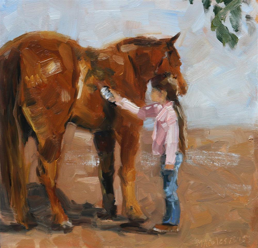 """Getting the dust out"" original fine art by Miranda Dalessi"