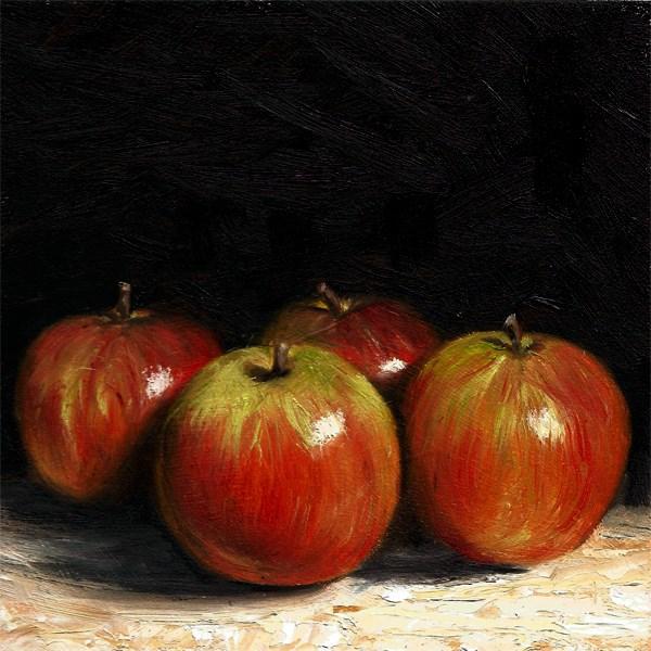 """Braeburn Apples"" original fine art by Peter J Sandford"