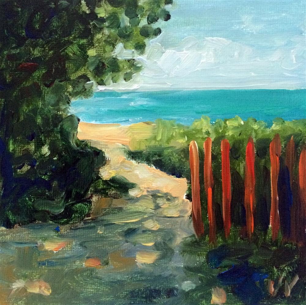 """Path to Delray Beach 5"" original fine art by Valerie Vescovi"