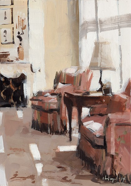 """Living Room I"" original fine art by David Lloyd"