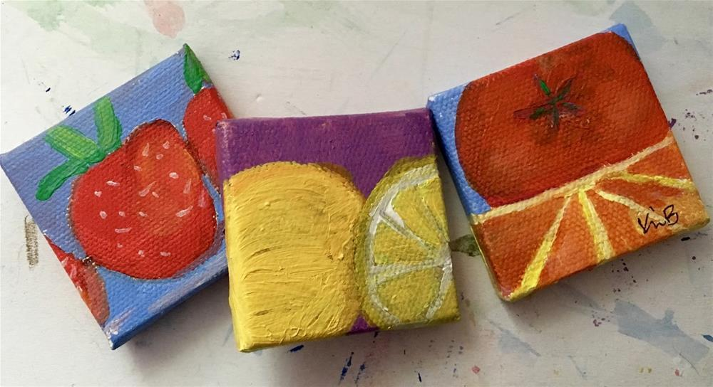 """Summer Minis"" original fine art by Kimberly Balentine"