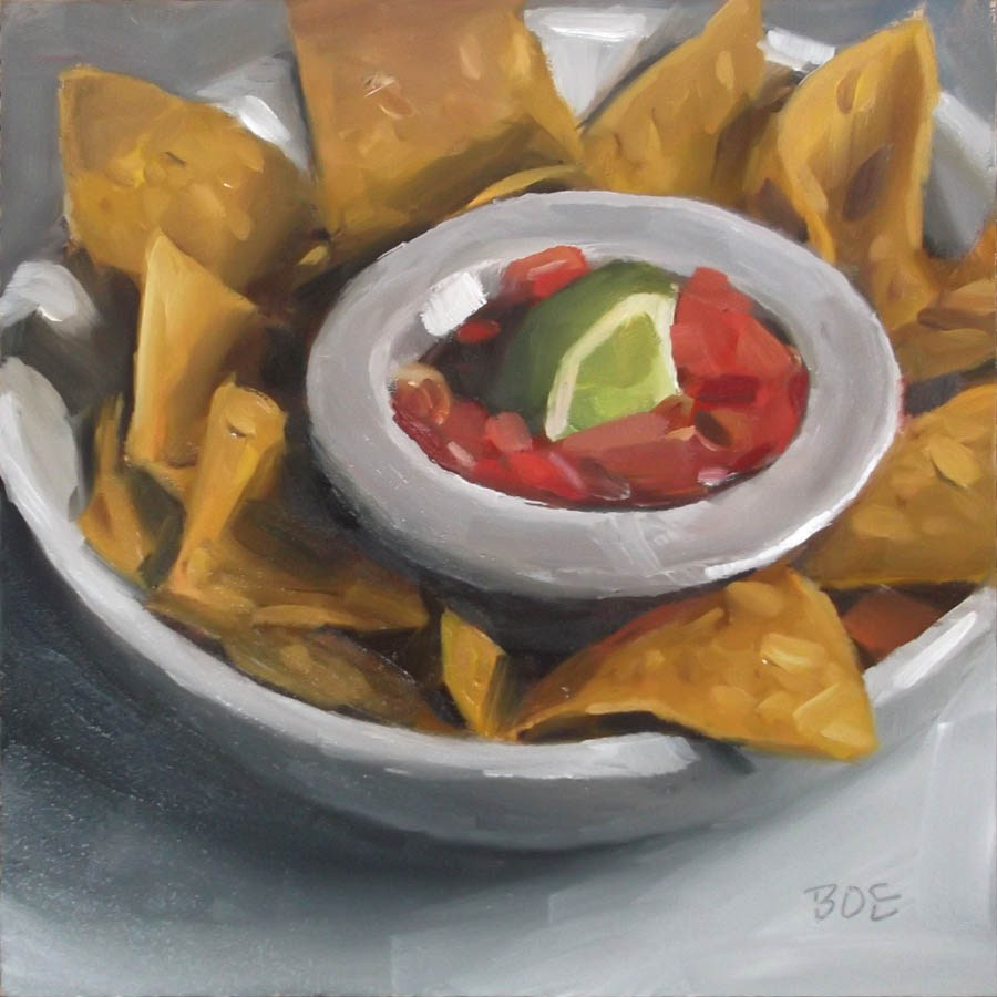 """Chips & Salsa"" original fine art by Karen Boe"