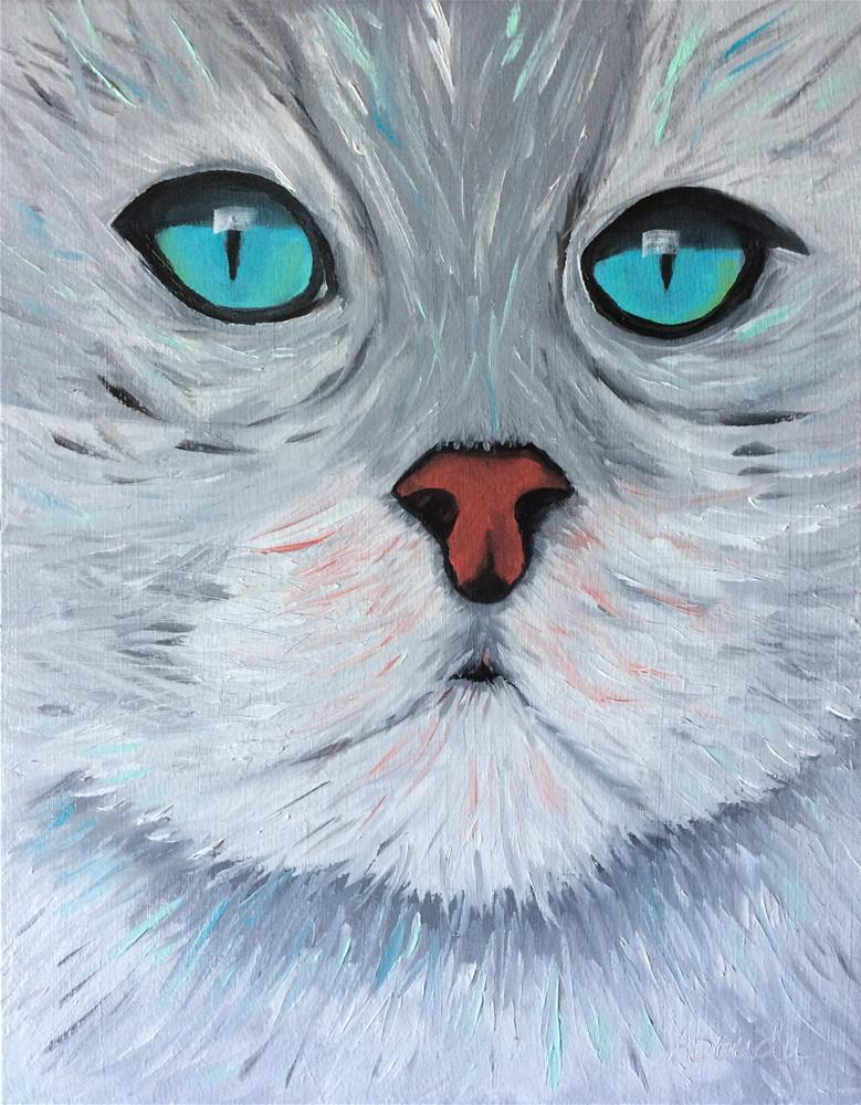 """Turquoise Eyes"" original fine art by Sandy Abouda"