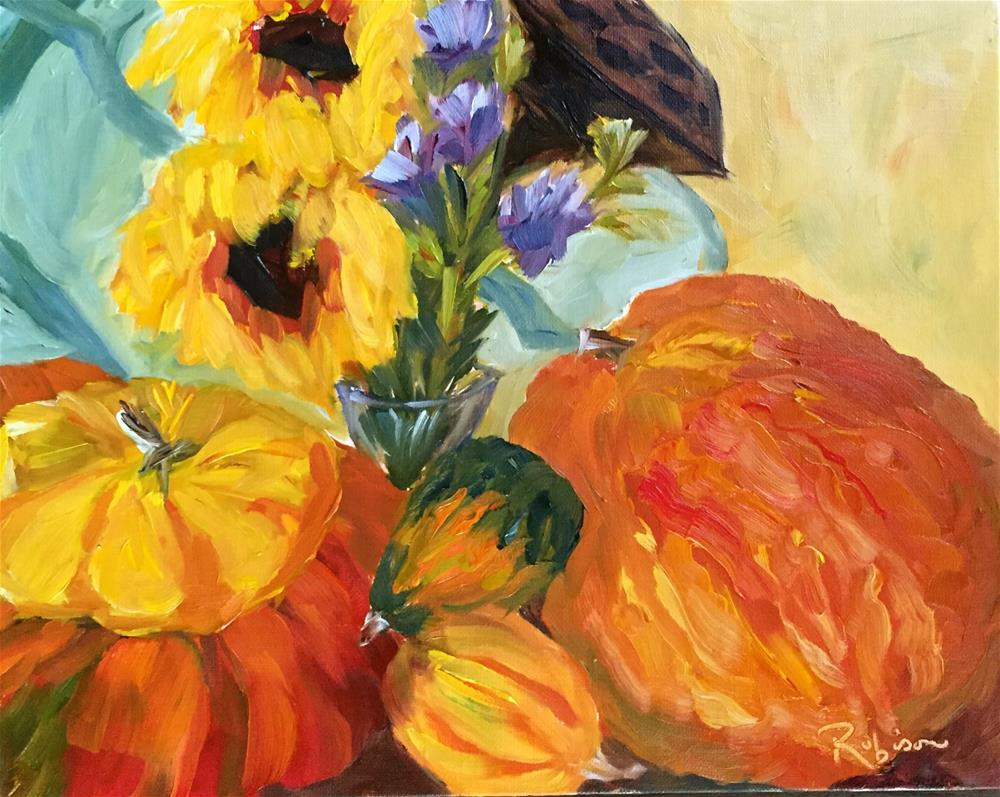 """Stack of Gourds Still Life"" original fine art by Renee Robison"