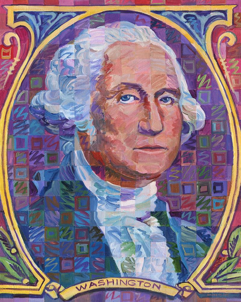 """George Washington #2"" original fine art by Randal Huiskens"