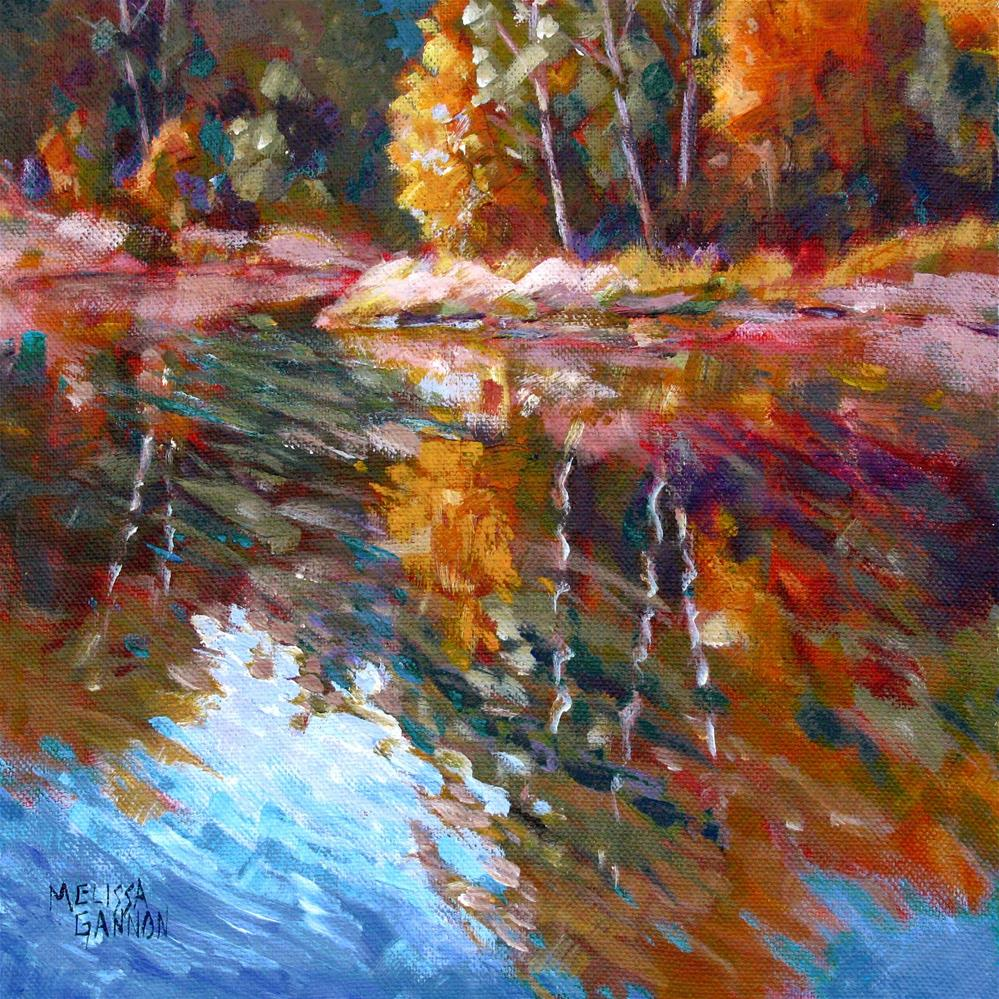 """All About Reflections"" original fine art by Melissa Gannon"