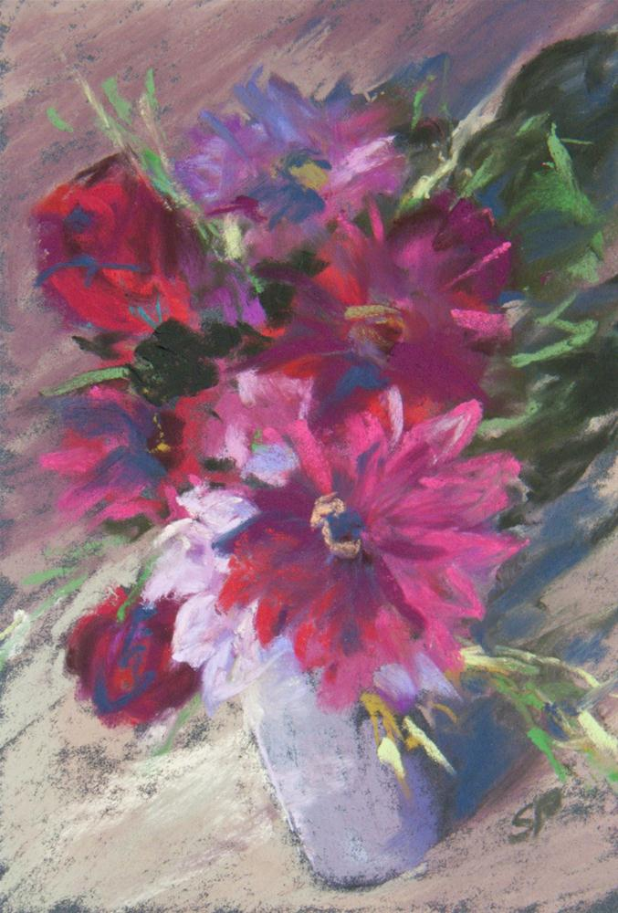 """Pink Bouquet"" original fine art by Sarah Peroutka"