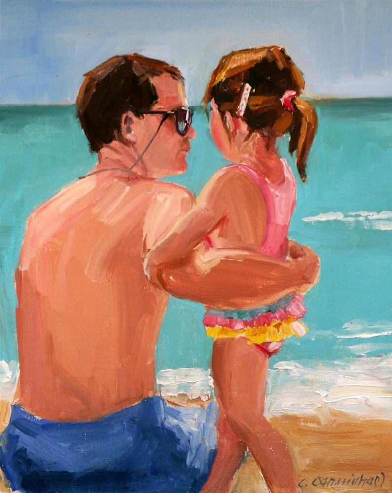 """Happy Father's Day"" original fine art by Carol Carmichael"