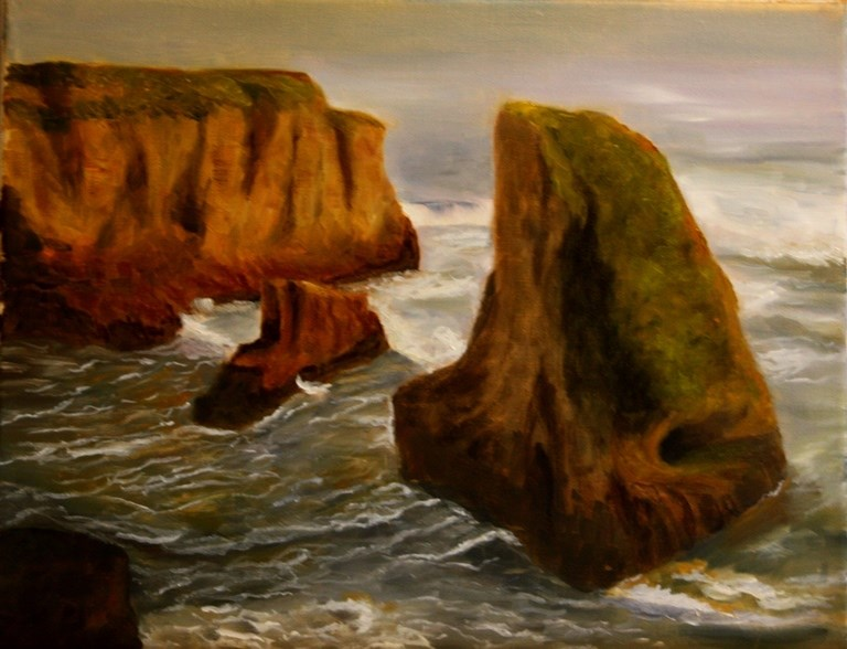 """Santa Cruz Coast"" original fine art by Mary Datum"