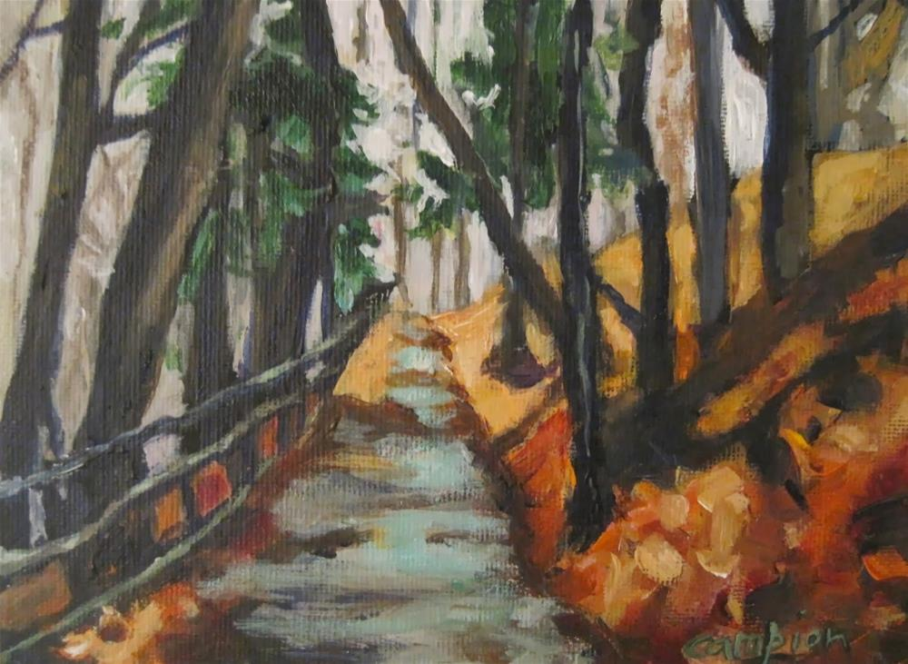 """245.  Path to Tranquility"" original fine art by Diane Campion"