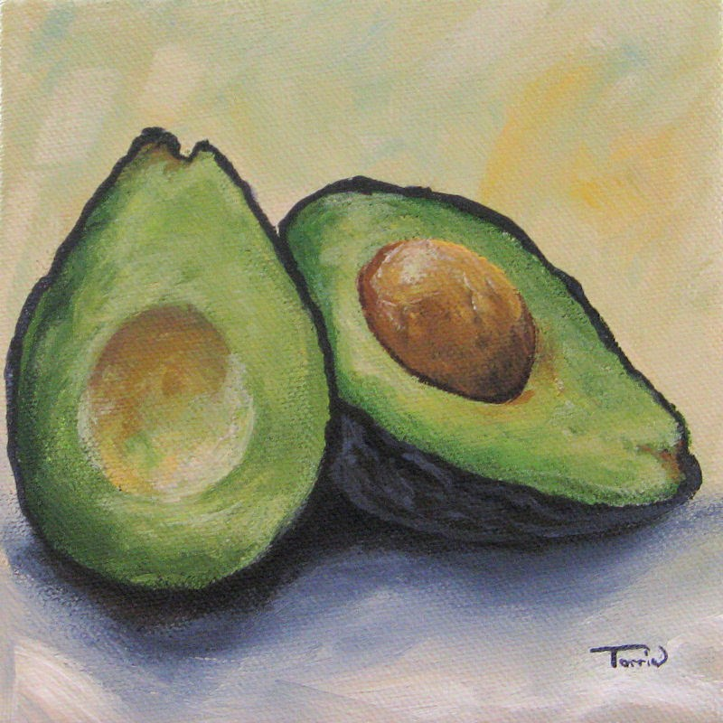 """Avocado II"" original fine art by Torrie Smiley"