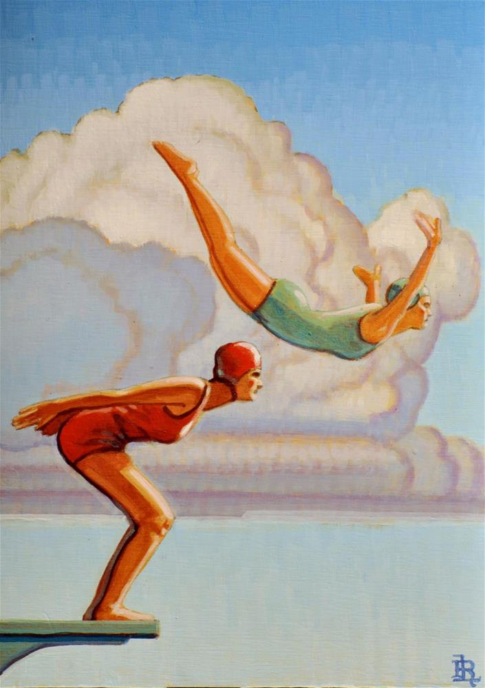 """Divers"" original fine art by Robert LaDuke"