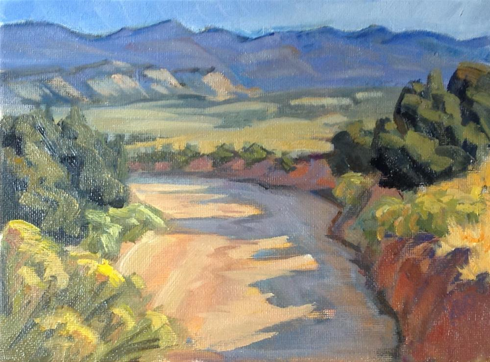 """Rabbit Brush Desert"" original fine art by Valerie Orlemann"
