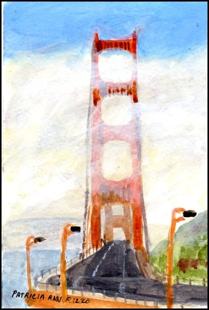 """Golden Gate"" original fine art by Patricia Ann Rizzo"