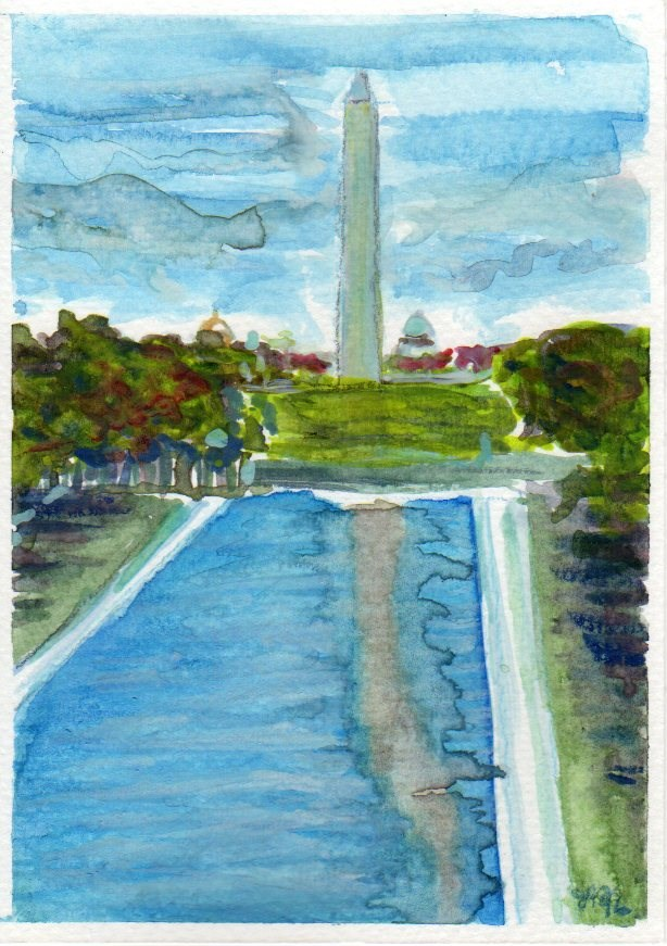 """Washington Monument"" original fine art by Laura Denning"