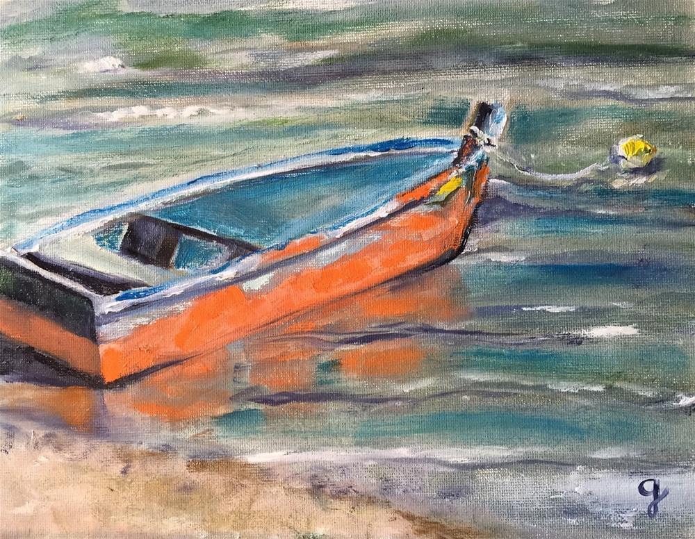 """Just Waiting"" original fine art by Gayle Lambeth"