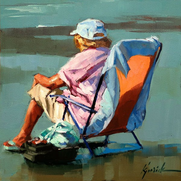 """Keeper of the Lures"" original fine art by Karin Jurick"