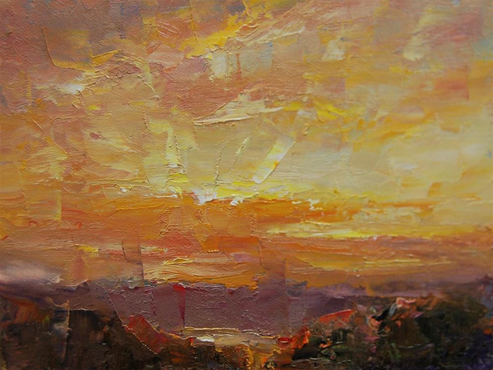 """Desert Sunrise"" original fine art by Julie Ford Oliver"
