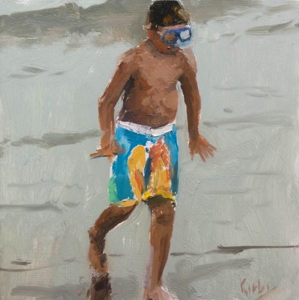 """Beach Crabbing"" original fine art by Randall Cogburn"