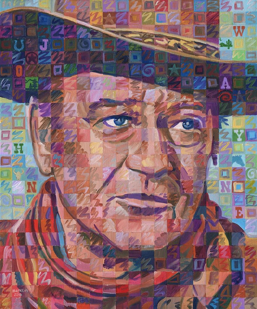 """John Wayne No. 3"" original fine art by Randal Huiskens"